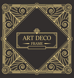 art deco border frame 08 vector image