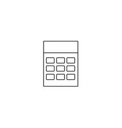 calculator line icon vector image