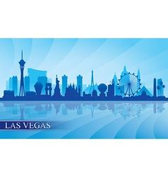 Las Vegas city skyline silhouette background vector image