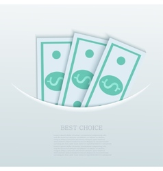 modern flat business background Eps 10 vector image