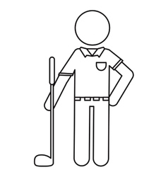 character golf player uniform ouline vector image