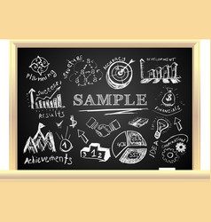 Creative blackboard idea vector image vector image