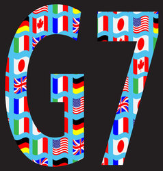 G7 icon pattern flag vector image vector image