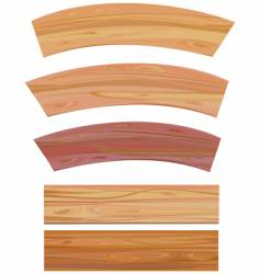 set of wooden elements vector image