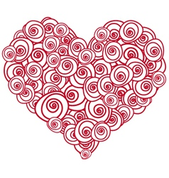 abstract rose heart vector image vector image