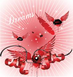 dreamy background vector image vector image