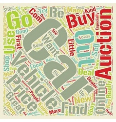 How To Find Used Cars At The Bargain Prices text vector image vector image