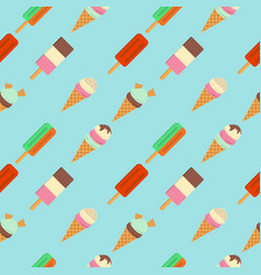 pattern of ice cream flat vector image