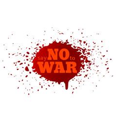 say no to war vector image