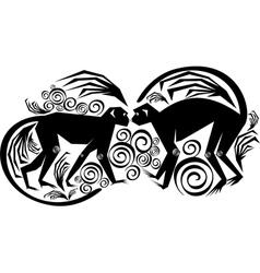 a couple monkeys vector image
