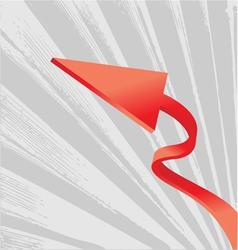 abstract arrow design vector image