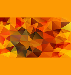Abstract irregular polygon background red orange vector