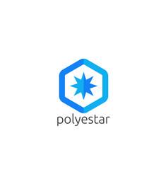 Abstract star sun polygon logo icon creative apps vector