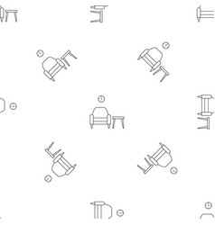 armchair and table pattern seamless vector image