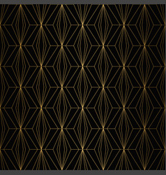 Art deco pattern seamless gold and black vector