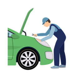 auto mechanic and adjustment single icon in vector image