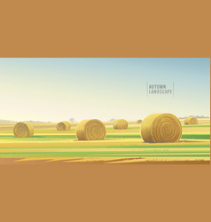 Autumn rural landscape from agricultural field vector