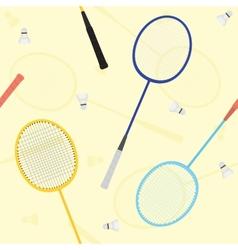 badminton seamless pattern vector image