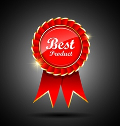 Best product label and ribbons vector
