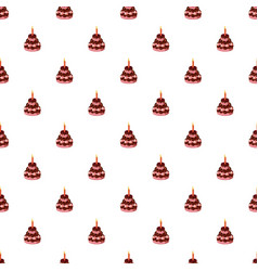 Birthday cake with candle pattern vector