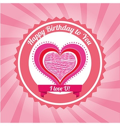 birthday design vector image