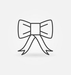 Bow concept icon in thin line style vector
