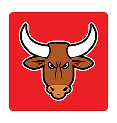 Brown bull vector
