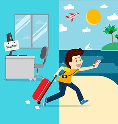 Business going vacation vector image