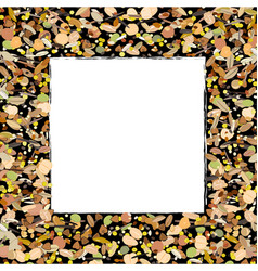 cereal grains seeds and beans border frame vector image