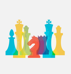 Chess pieces business sign corporate identity vector