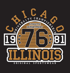 Chicago illinois typography for t-shirt vector