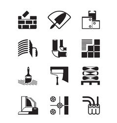 Construction materials and tools vector