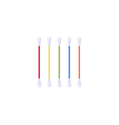 Cotton ear swabs vector