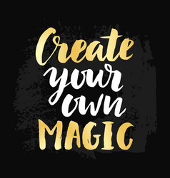 Create your own magic poster vector