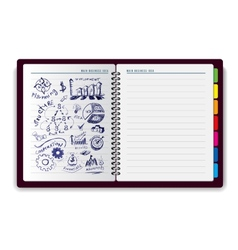 Creative notebook idea vector image