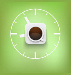 cup of coffee and time background vector image