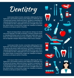 Dentistry infographics with dental care icons vector