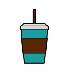 Disposable coffee cup cartoon vector
