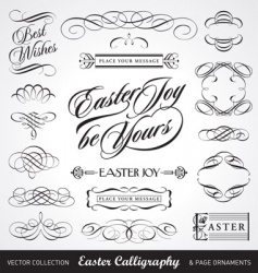 Easter calligraphy set vector
