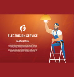 electrician service cartoon concept vector image