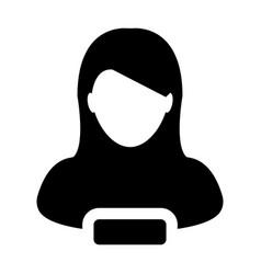 Female icon remove user person profile avatar vector