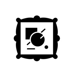 fine art icon black sign on vector image