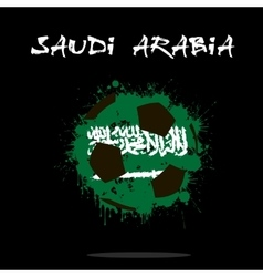 Flag of saudi arabia as an abstract soccer ball vector