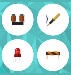 flat icon appliance set of bobbin recipient coil vector image