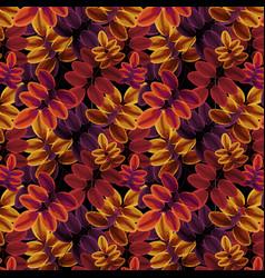 foliage pattern autumn warm colors vector image