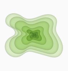 Green paper art carving vector