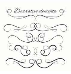 Hand drawn dividers set Decorative borders set vector