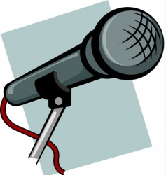 hand microphone vector image