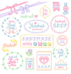 handmade shop design vector image