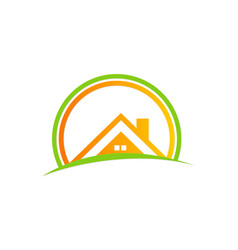 house roof abstract business logo vector image
